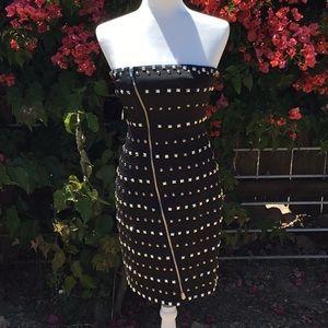 Bebe Trapunto studded dress